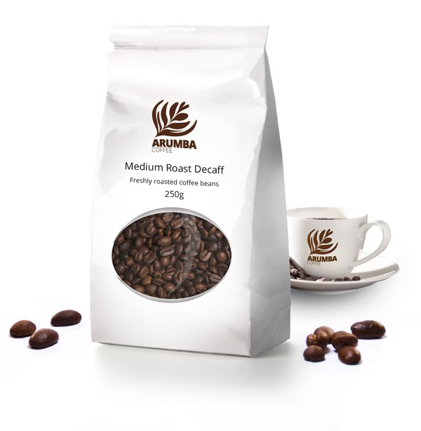 <span>Medium Roast Decaf</span> A pure Brazilian Arabica coffee, full of flavour. A perfect bedtime drink