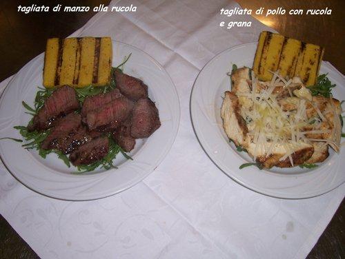 piatti di manzo e pollo