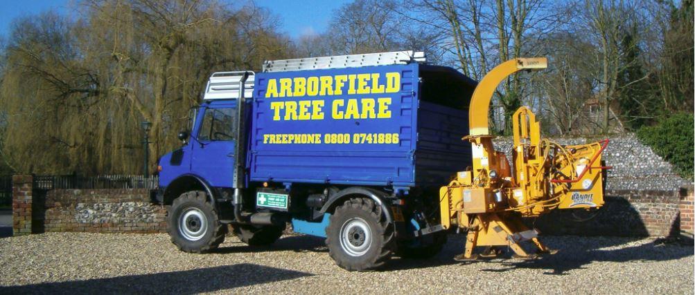 Arborfield Tree Care vehicle