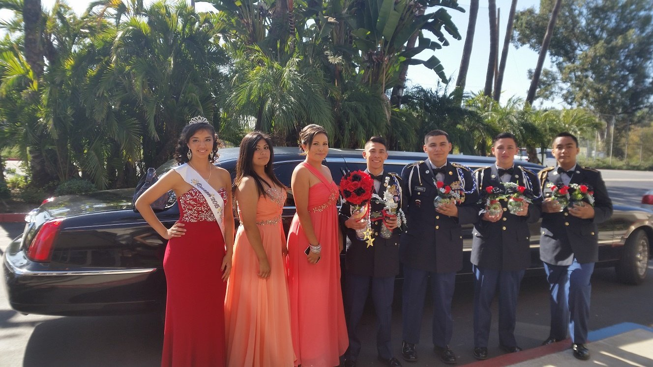 Marine Corp ball Party limo