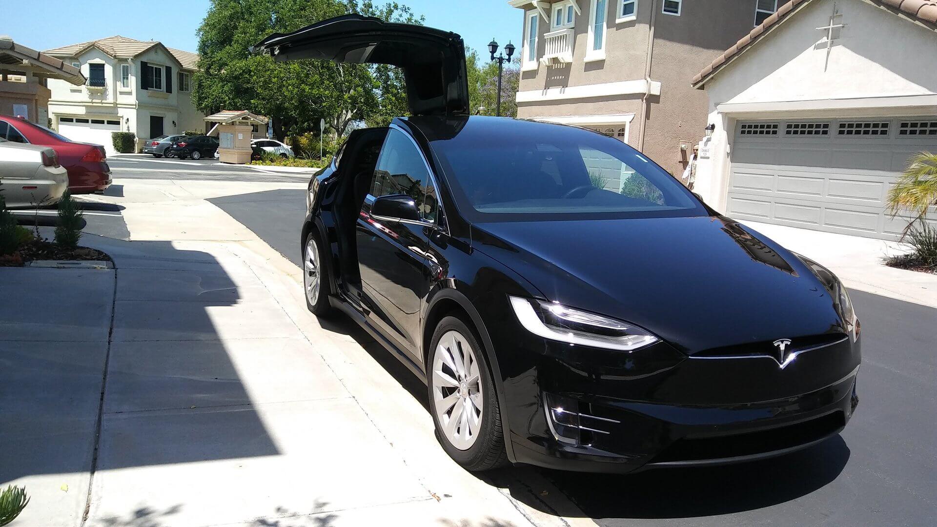 San Diego airport Tesla X Transportation