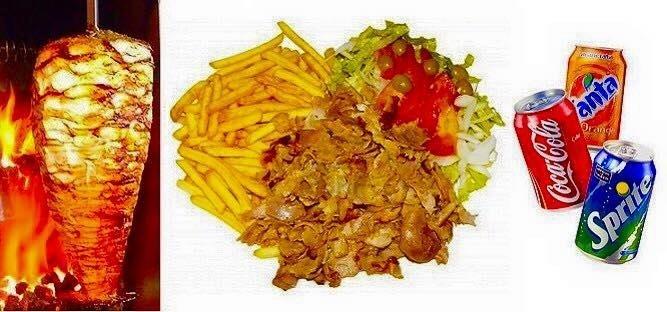 kebab con patatine