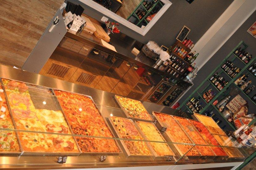 pizze e focacce esposte
