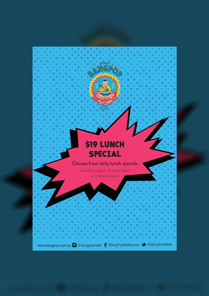 bangpop weekly special lunch