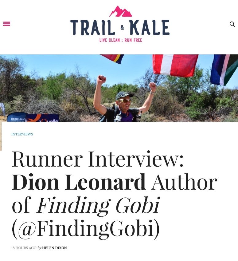 Dion Leonard, Trail and Kale, Multi Stage,Ultrarunner, Finding Gobi