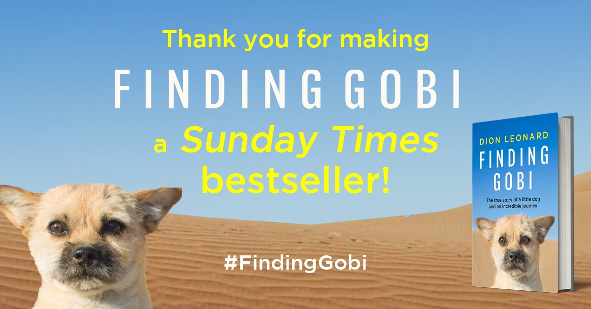 Sunday Times Bestseller, Finding Gobi, Dion Leonard, Gobi the Dog