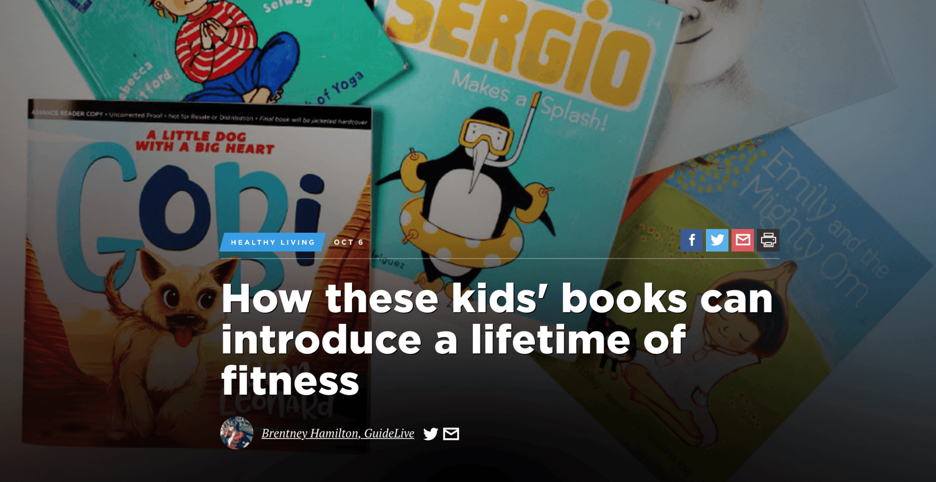 Finding Gobi, Dallas News, Dion Leonard, Children's Fitness