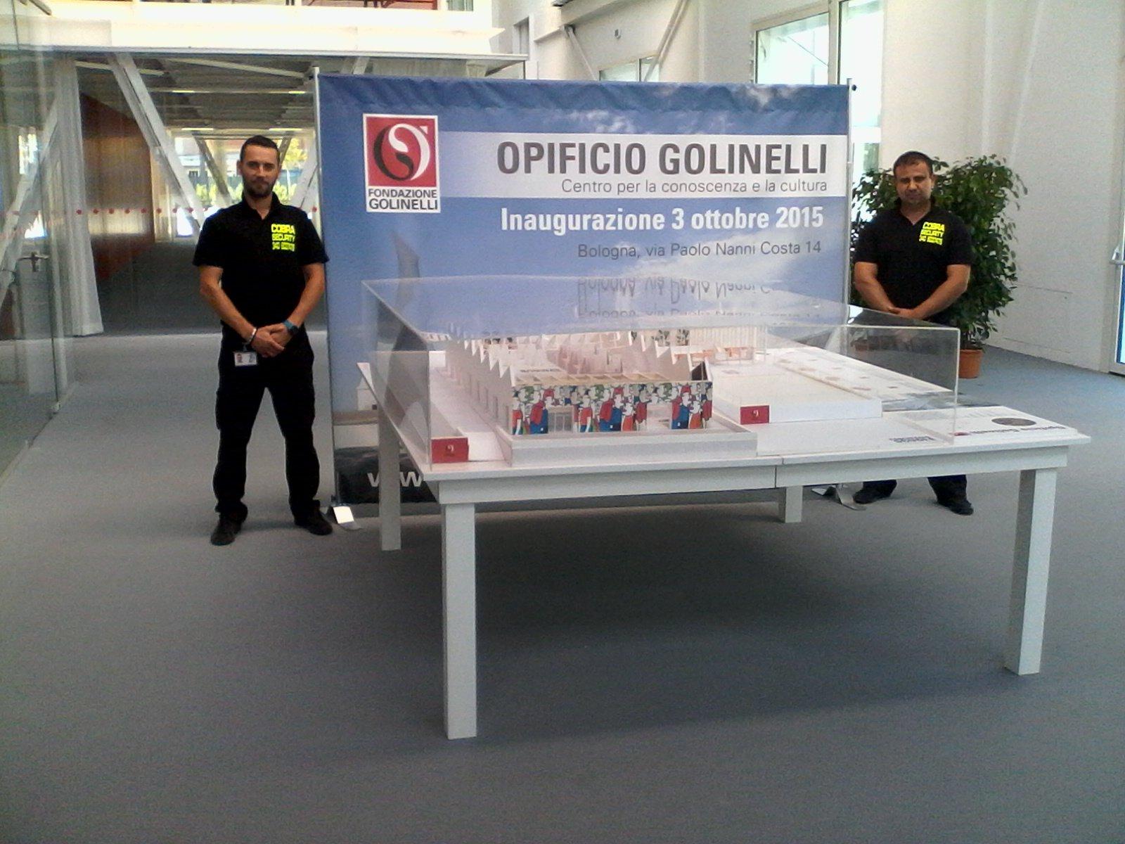 due guardie sicurezza per fondazione golinelli