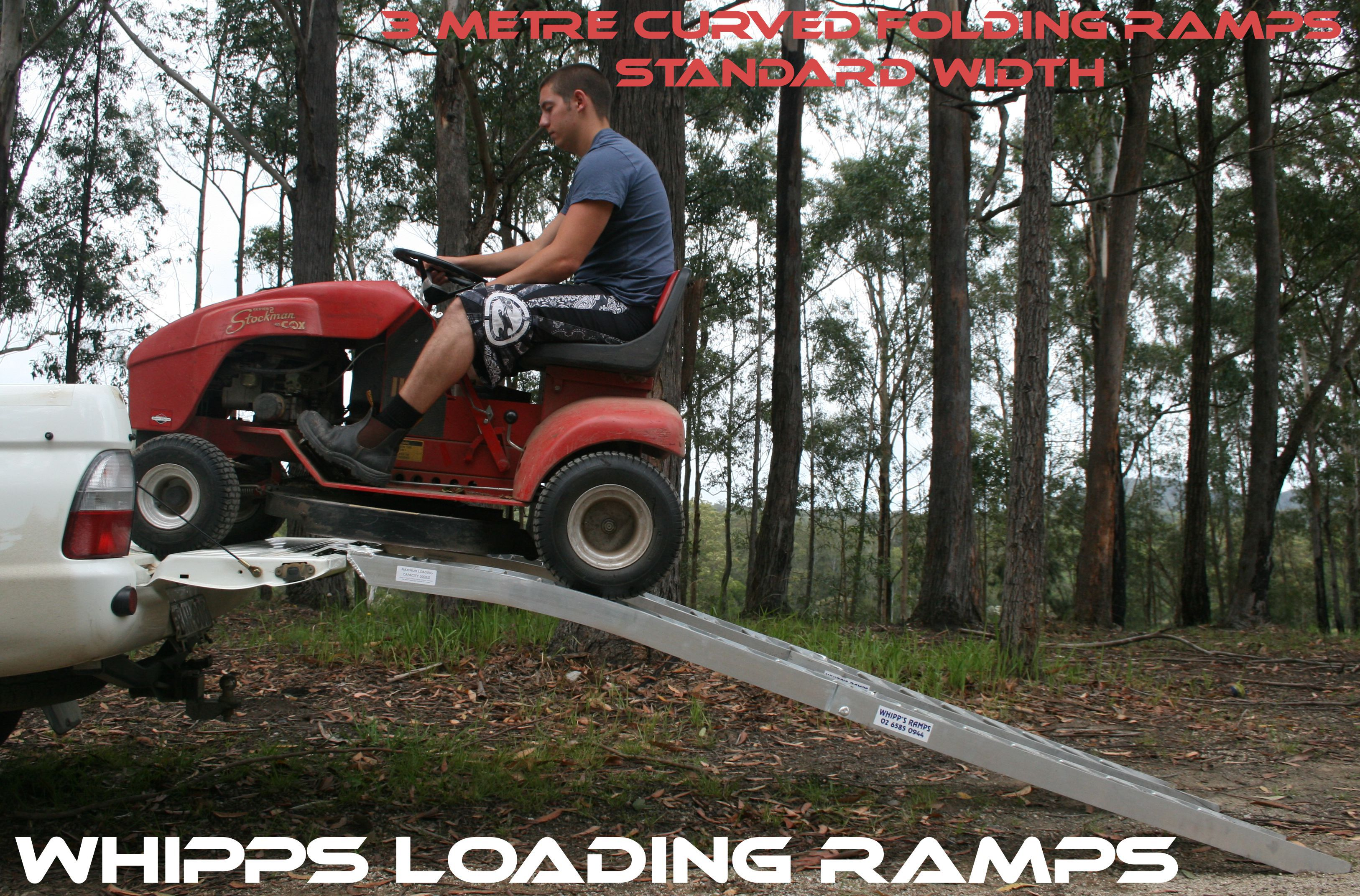 curved mower ramps