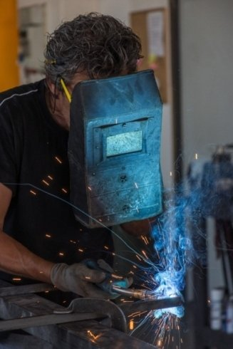 saldare, metallo, ferro battuto, artistico, fabbro