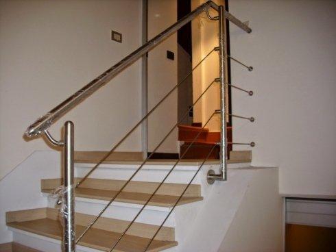 Protezione scale in acciaio inox
