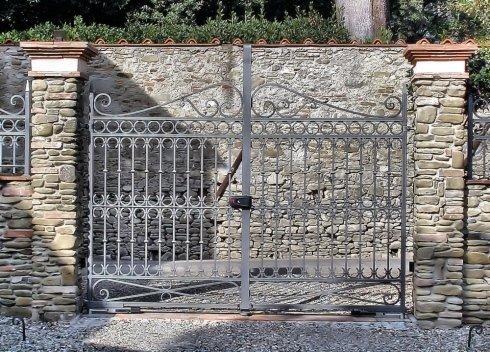 Cancello in ferro battuto su misura
