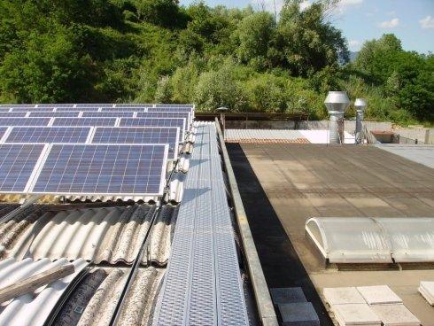 realizzazione passerelle di accesso pannelli solari Firenze
