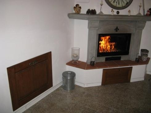 cassetta per legna in ferro