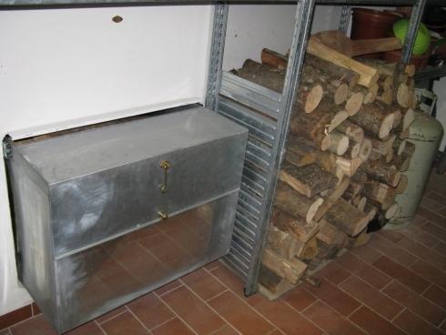 realizzazione cassetta per legna