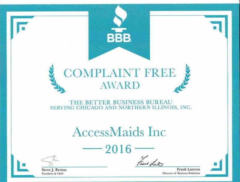 2016 BBB Complaint Free Award