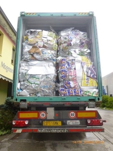 Tetrapack in balle