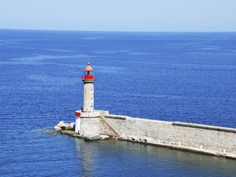 lighthouse at Bastia in Corsica