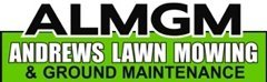 andrews lawn mowing and ground maintenance business logo