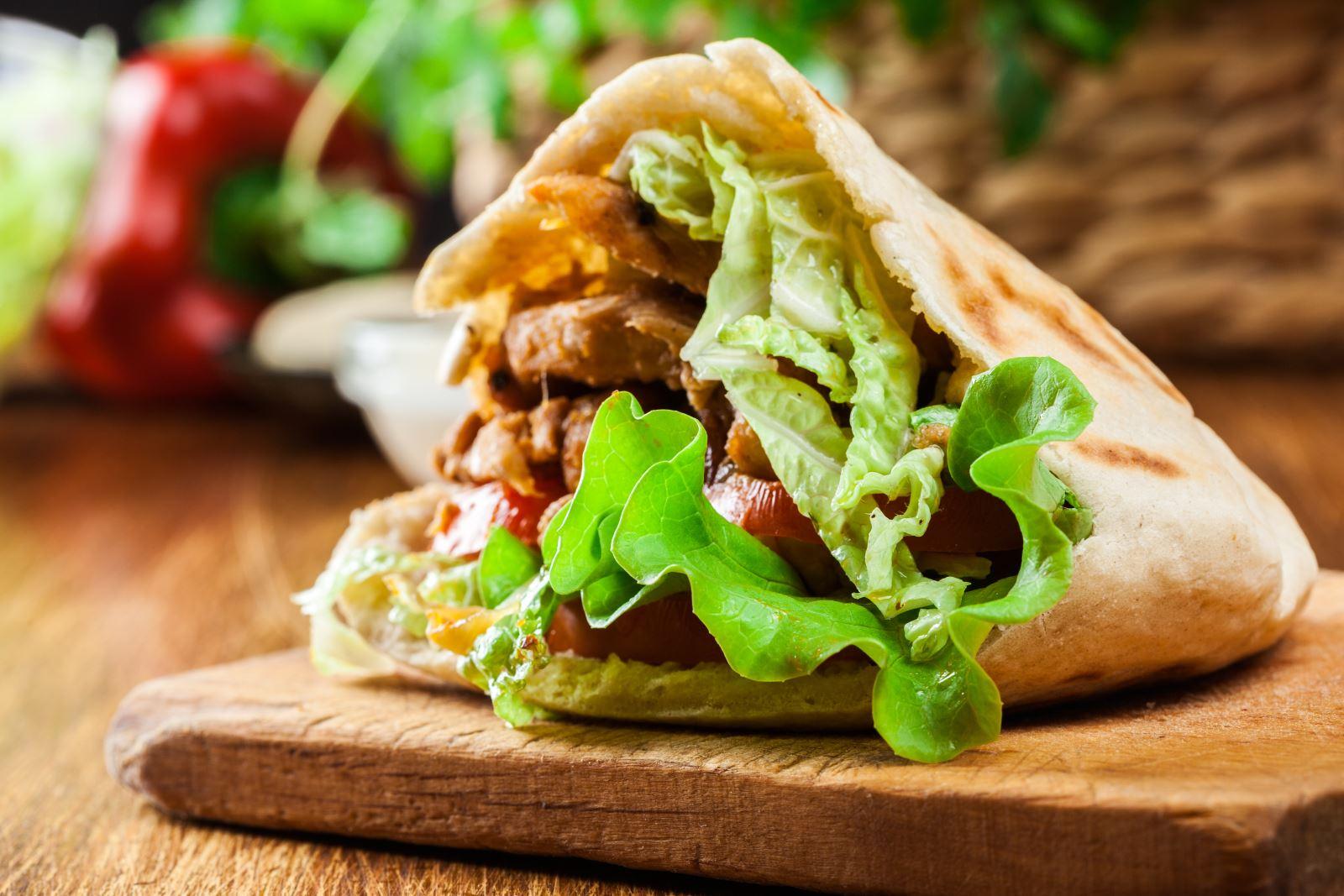 panino con il kebab