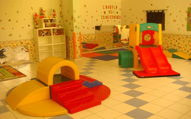 Area gioco all'interno dell'asilo