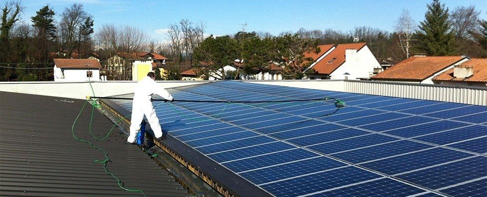 pulizia pannelli solari Nuova Solex
