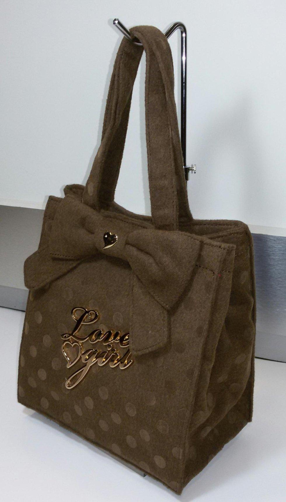 Mini bag in tessuto con fiocco Love Girl