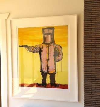 Ned Kelly picture hanging Melbourne