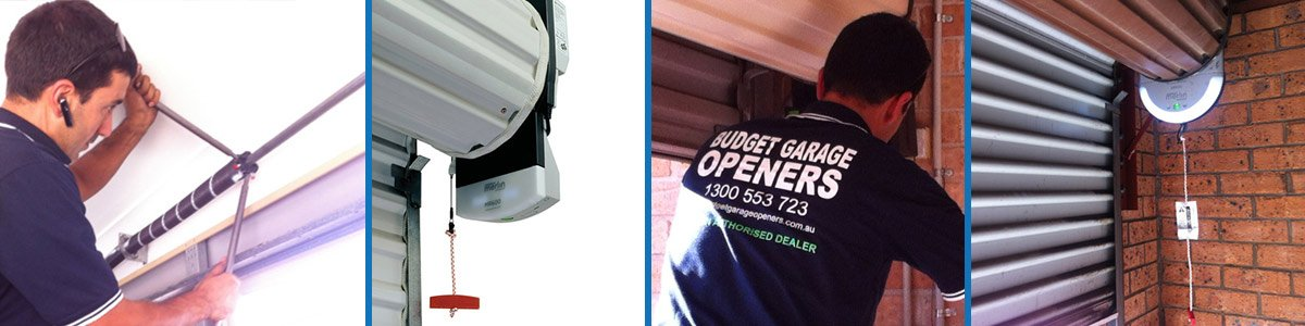 Man working on garage door repairs in Bankstown