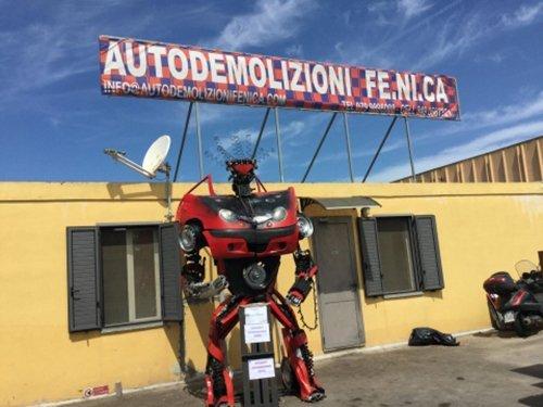 INGRESSO DEL CENTRO AUTODEMOLIZIONI