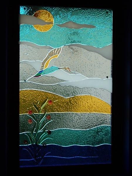vetrata artigianale per interni