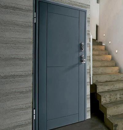 Porta Blindata arredo blu-grigio