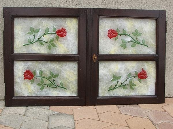 vetrata artistica per esterni