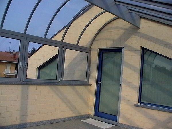 tettoia artistica vetro