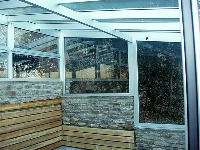 struttura in vetro arredo giardino