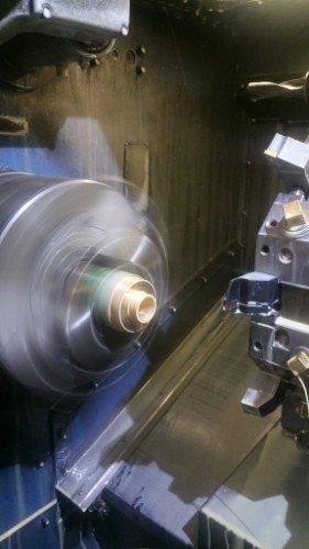 una punta rotante di un macchinario per lavorazioni meccaniche