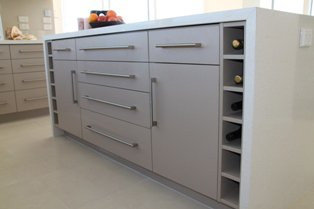 View of a kitchen cabinets designed by experts