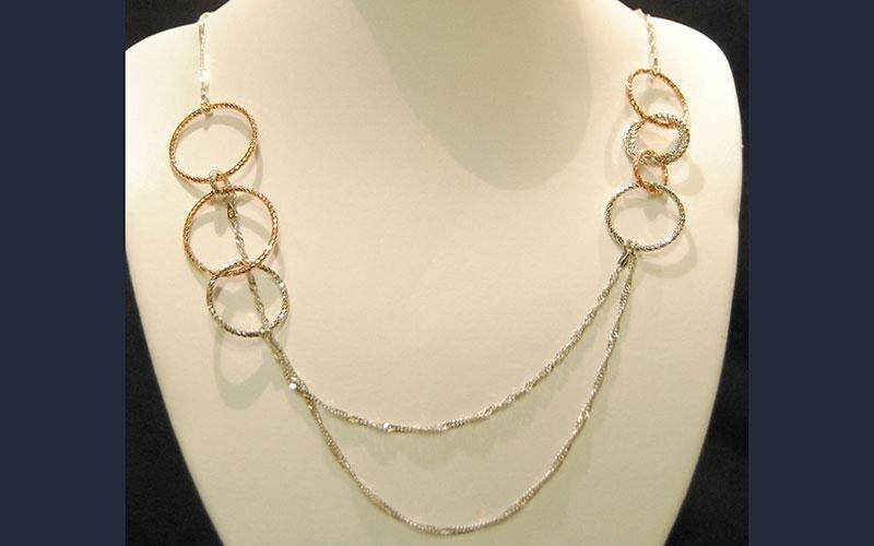 collana oro bianco