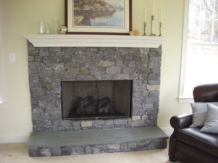 Quarry cut for Grey stone fireplace