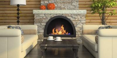 Gas or Wood-Burning Fireplace