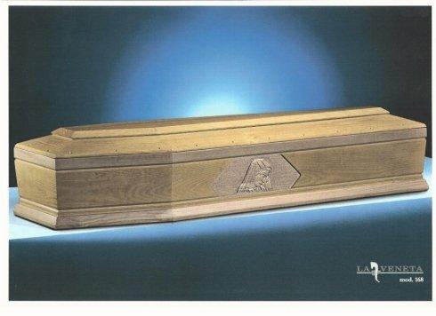 bara di legno con design della Vergine nel laterale