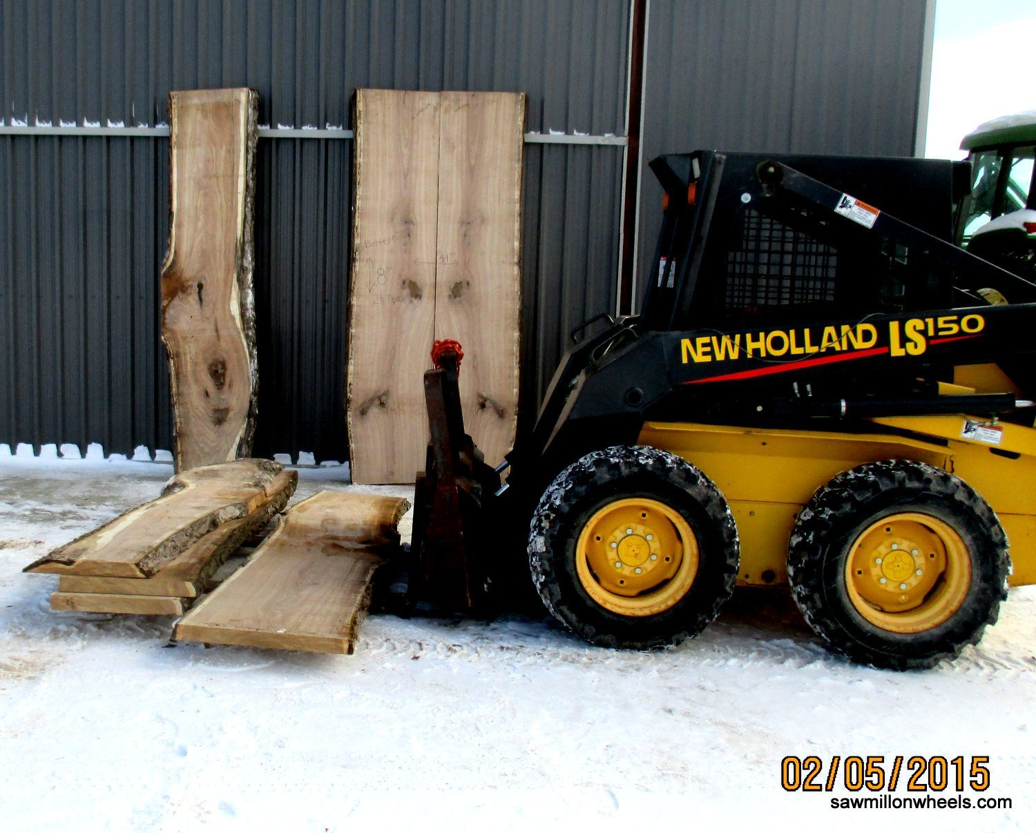 Live edge lumber for woodworking projects.