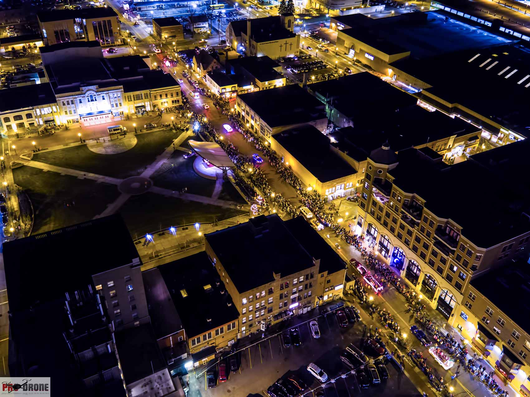 Drone View Wausau Downtown