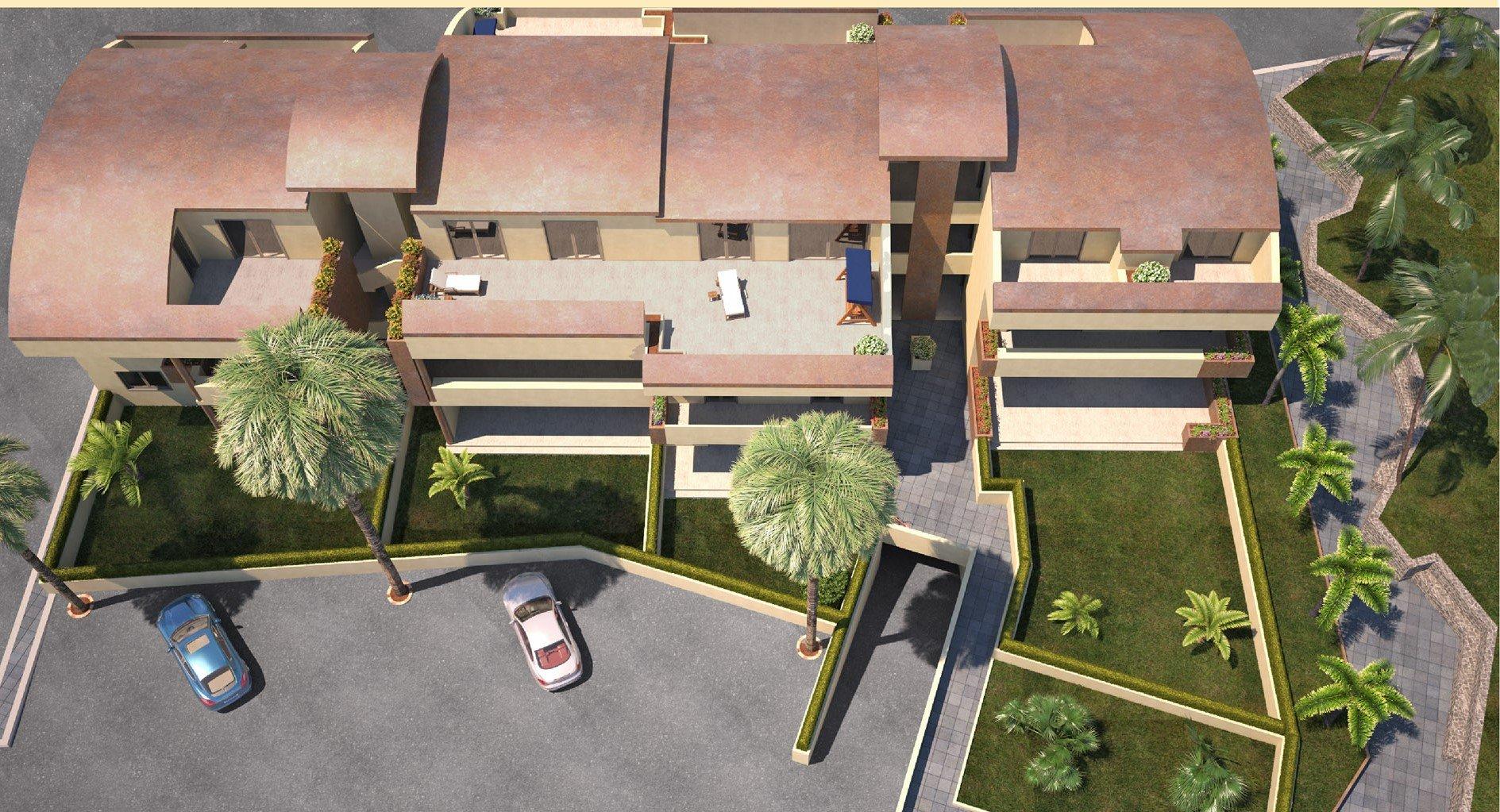progetto in 3d di abitazioni di lusso