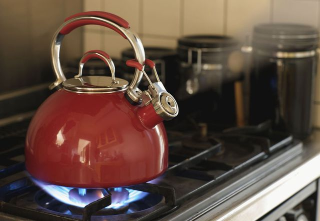 Pot sitting on stove to represent appliance maintenance and washing machine repair in Lexington, KY