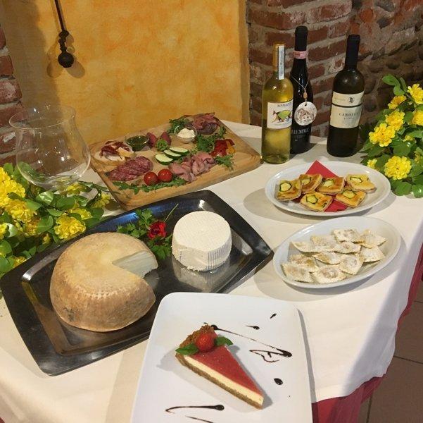 degustazioni locali sul tavolo
