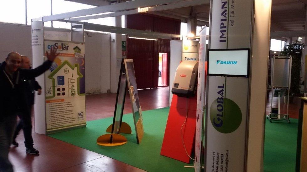 Stand di Global Impianti in una mostra