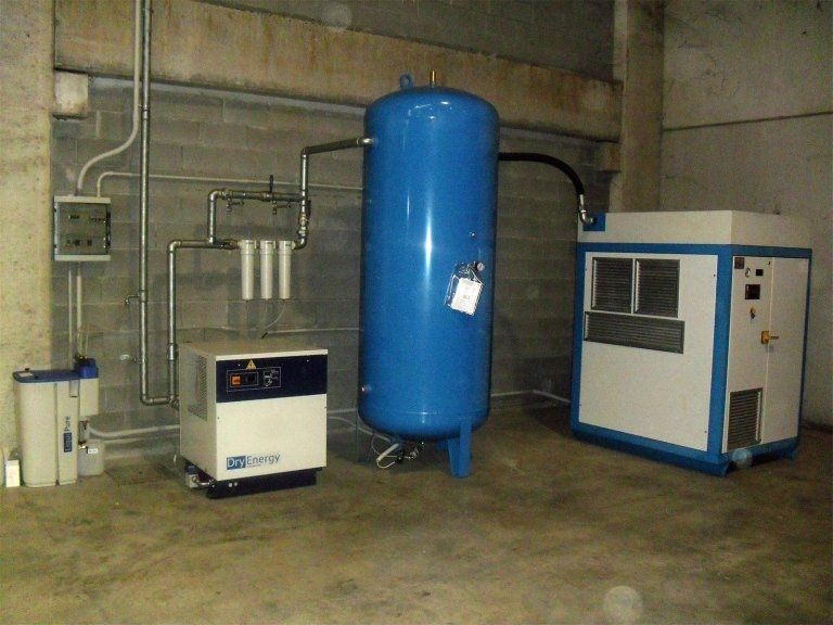 Un impianto termoidraulico con piccolo silos