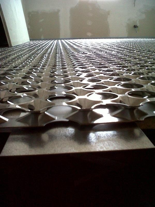 Struttura dell'impianto di riscaldamento a pavimento