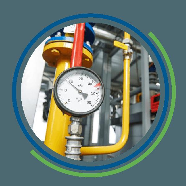 Un misuratore di pressione impiantistica